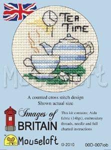 Mouseloft Tea Time Images of Britain cross stitch kit